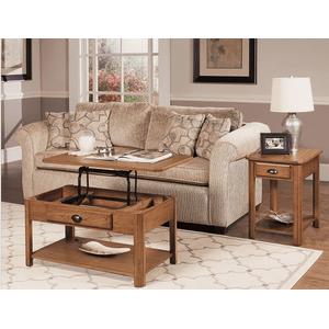 Null Furniture Inc - Chairside End IN Autumn Oak Finish       (1014-07,52807)