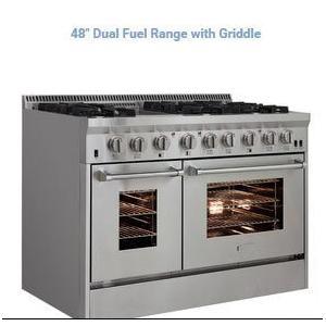 48in Dual Fuel Pro Range w/ Griddle