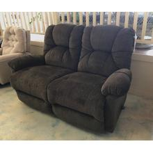 ID:234219 Space saver recliner loveseat in brown fabric
