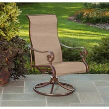 Agio Burgundy Collection Sling Swivel Rocker Chair