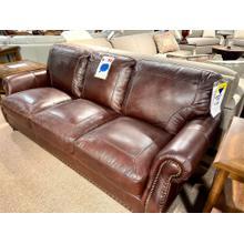 View Product - Stallion Burgundy Leather Sofa