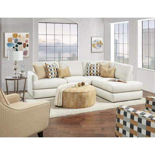 Treaty Linen Sectional w/ Chaise
