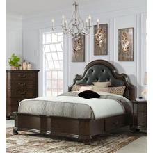 Avery Queen Bed with Upholstered Button Tufted Headboard