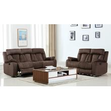 See Details - 9760 - Gray Microfiber - 2-Piece Sofa and Loveseat