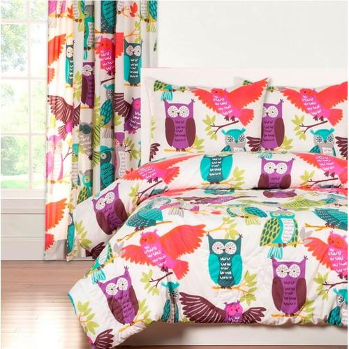 """Owls Always Love You"" Crayola Comforter Sets Twin"