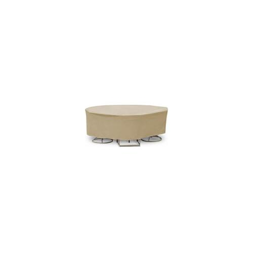 """Round Table & Chair Set Cover, 48"""" x 54"""" Bar Height Table With 4-6 High Back Chairs"""