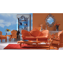 Sunrise Orange Rocking Chair