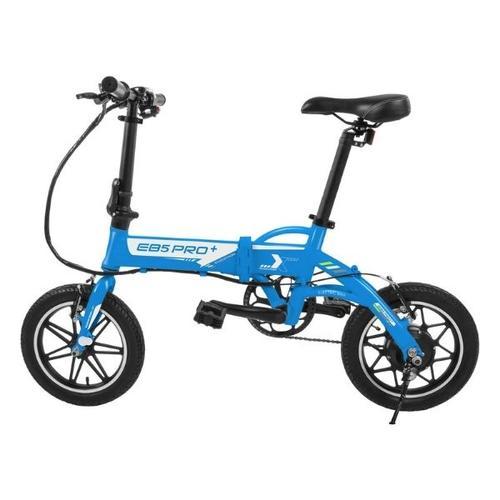 Swagtron - SWAGTRON EB5 Pro City & Campus Folding eBike, Pedal-To-Go - Blue