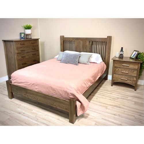 Witmer Furniture - Middleton Collection Bed Oak in Color #27