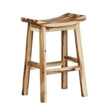 Powell Furniture Archer Natural Saddle Bar Stool