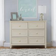 Astoria 6 Drawer Double Dresser - Buttercream