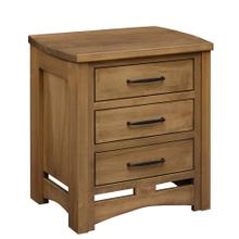 Homestead - 3 Drawer Nightstand