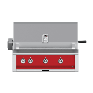 "Aspire By Hestan 36"" Built-In U-Burner, Rotisserie Grill LP Matador Red"