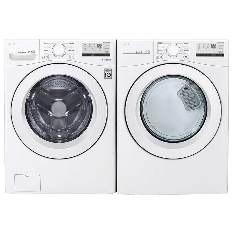 View Product - LG 4.5 cu. ft. Ultra Large Front Load Washer & 7.4 cu. ft. Ultra Large Capacity Electric Dryer