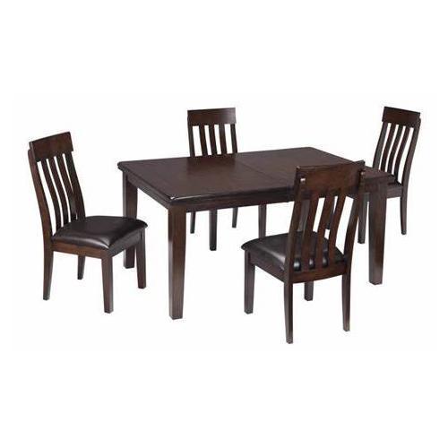 Ashley Furniture - Haddigan 7PC Set: 5PC Dinette w/ Leaf, Bench, & Server