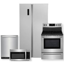 See Details - FRIGIDAIRE 18.8 Cu.Ft. 36-Inch Counter Depth Side by Side Refrigerator & 30-Inch Electric Range Package- Minor Case Imperfections
