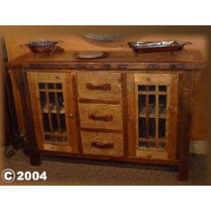 Stony Brooke 2 Door 3 Drawer Buffet With Glass Doors