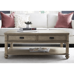 Null Furniture Inc - Large Rectangular Cocktail in a muted Driftwood Finish    (8817-11,52919)