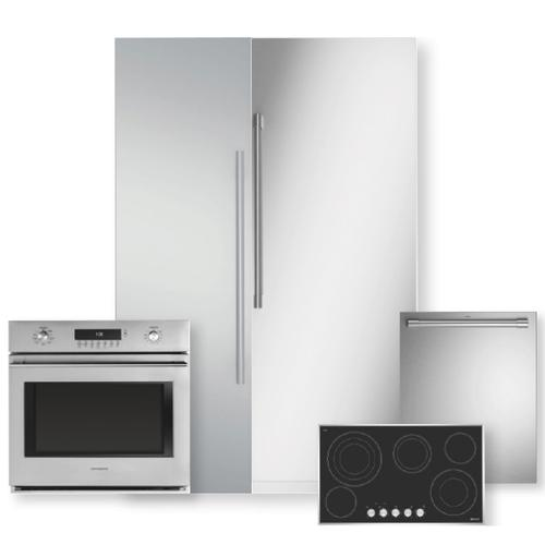 Packages - Stainless Steel Integrated Column Refrigerator & Freezer 5-Piece Package- Open Box