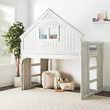 View Product - Club House Twin Loft Bed - Brushed Driftwood