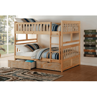 Bartly Bunk Bed Full on Full with Storage Drawers