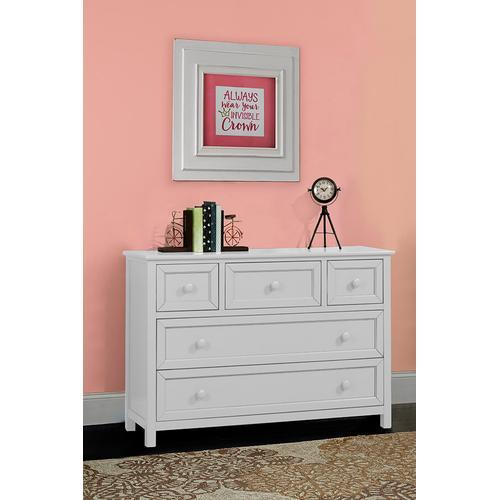 5DR Dresser - White