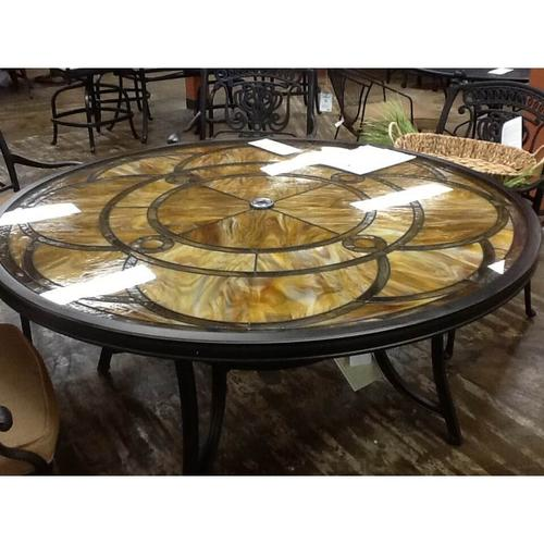 """Agio ALF52810PO1 60"""" Round Stained Glass Table"""