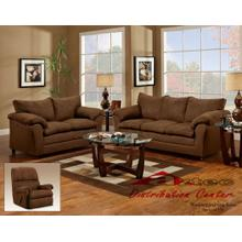 1150 Washington Living Room Flat Suede Chocolate Houston Texas USA Aztec Furniture