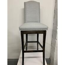 Upholstered Wood Swivel Bar Stool