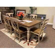 Rectangular Dining Table w Matching Chairs (6) Available in Other Colors