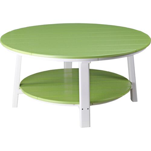Deluxe Conversation Table Lime Green and White