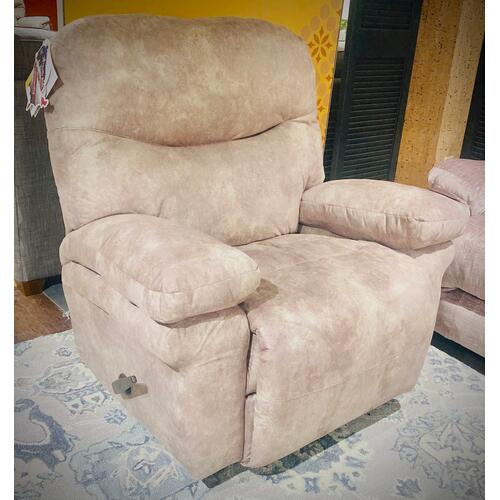 Best Home Furnishings - LEYA  Rocker Chaise Recliner in Paloma Grey      (6M77-19869b,40168)