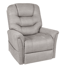Stonewash Dove Medical Power Lift Recliner     (WARE-233-DOVE,44973)