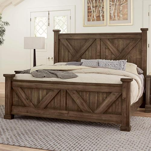 King Cool Rustic Mink X Bed