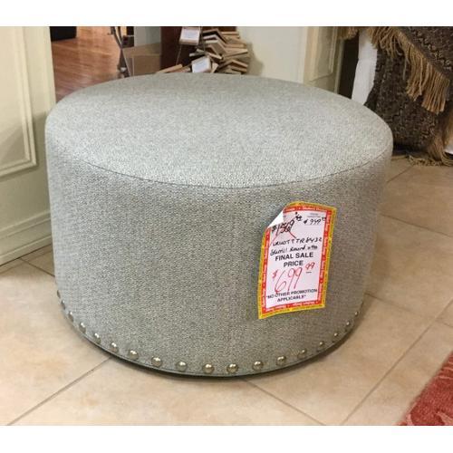 Sherrill Furniture - Round cocktail ottoman