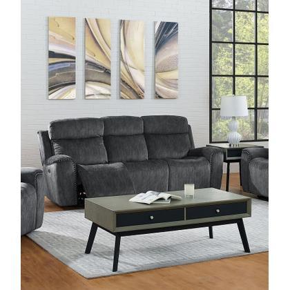 Kagan Dual Recliner Sofa - Shadow Gray