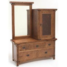 Bungalow Gentlemen's Chest with Cabinet and Mirror