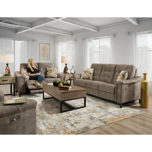 CORINTHIAN 28501-39HR Bakersfield Umber Power Headrest Reclining Sofa