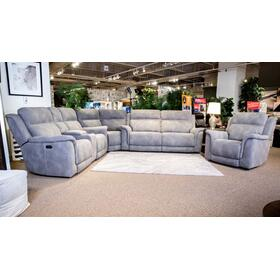 Next-gen Durapella 3-piece Zero Gravity Power Reclining Sectional Slate