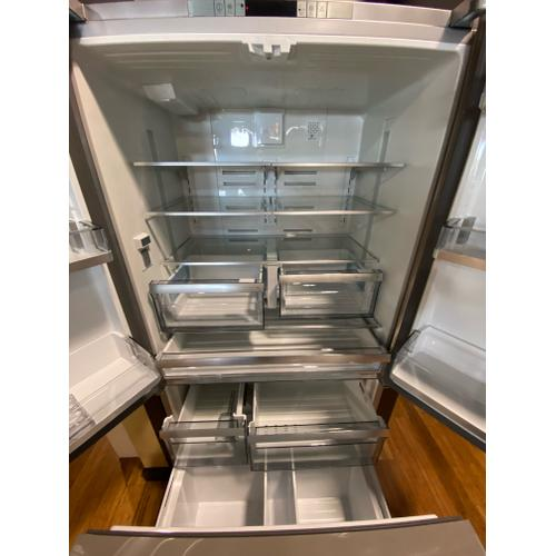 "36"" French Door Refrigerator 22.3 cu ft, stainless doors, stainless handles"