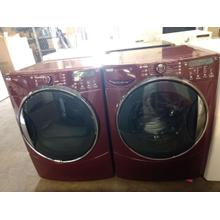 Refurbished (GAS) Burgundy Kenmore Elite Front Load Washer Dryer Set.. Please call store if you would like additional pictures. This set carries our 6 month warranty, MANUFACTURER WARRANTY AND REBATES ARE NOT VALID (Sold only as a set)