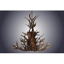 REAL 20 Light Small Paul Bunyon Antler Chandelier