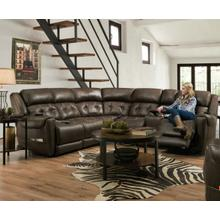 Haven Espresso Power Reclining Sectional w/ Adj Headrest and Lumbar