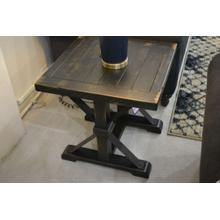 Ashley Furniture wood and metal end table.
