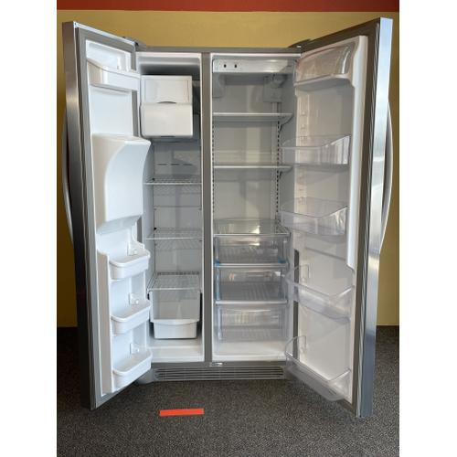 Treviño Appliance - FrigidAire Stainless Steel Side by Side Refrigerator