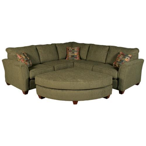Sectional with Pie Ottoman