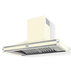 Lacornue Cornufe - Ivory Cornufe 110 Hood with Polished Chrome Accents
