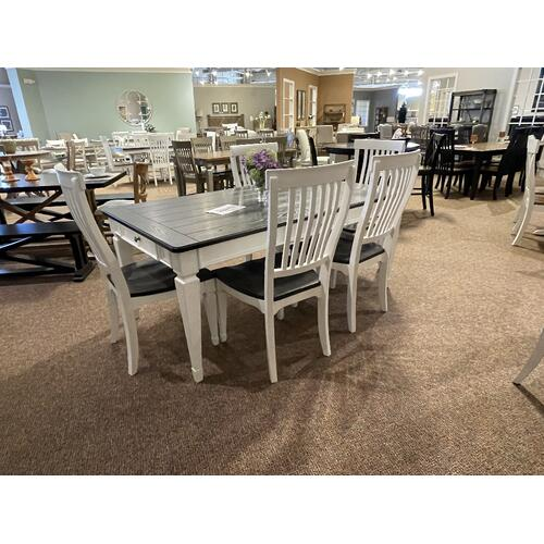 ALLYSON PARK DINING - 417 TABLE WITH 6 CHAIRS |  STYLE LIB-417T4072
