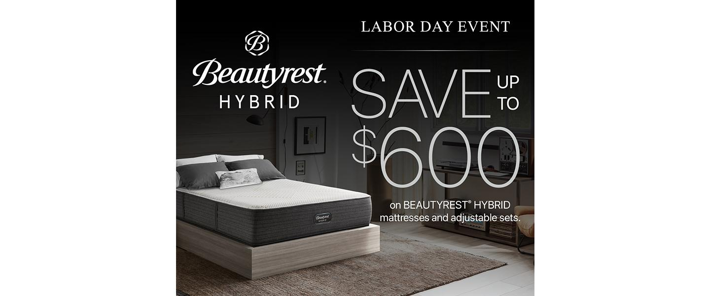 Beautyrest Hybrid Labor Day Event Save up to $600