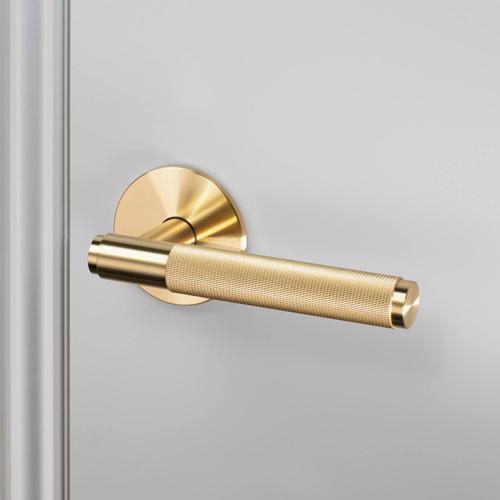 DOOR HANDLE / PRE-DRILLED / PASSAGE / BRASS